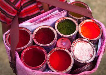 Kid Selling Powders, Maha Kumbh Mela, Allahabad, India