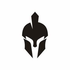 Spartan Helmet vector logo design