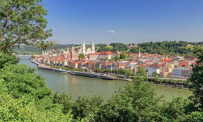 Summer in Passau at the Danube River