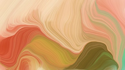 curved lines artwork with burly wood, brown and coffee colors. abstract dynamic background and creative wallpaper art drawing