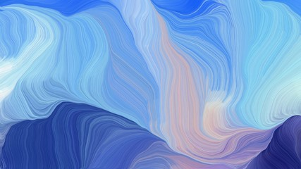 curved lines waves with sky blue, dark slate blue and pastel gray colors. modern dynamic background and creative wallpaper art drawing
