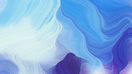 curved lines waves with sky blue, dark slate blue and lavender colors. modern dynamic background and creative wallpaper art drawing