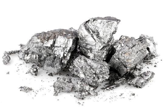 99.58% fine beryllium isolated on white background
