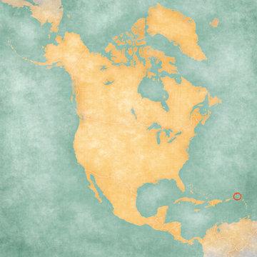 Map of North America - Saint Martin