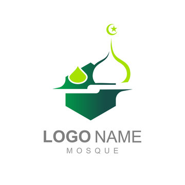 luxurious mosque logo and simple look, logo ready to use