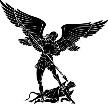 Archangel Michael, Winning Battle with the Devil