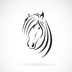 Vector of horse head design on a white background. Wild Animals. Horse logo or icon. Easy editable layered vector illustration.