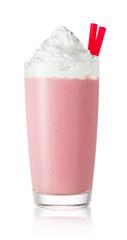Autocollant pour porte Lait, Milk-shake strawberry milkshake in glass