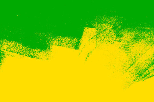 yellow green paint background texture with grunge brush strokes