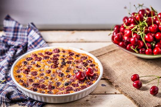 Cherry French Cake clafoutis