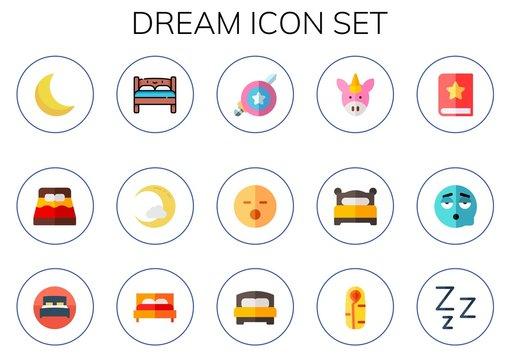 dream icon set