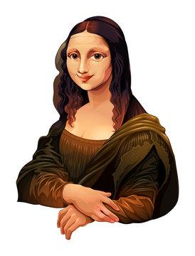 Interpretation of Mona Lisa, painting by Leonardo da Vinci