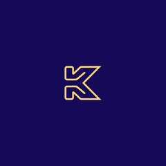 Creative Innovative Initial Letter logo KK K. Minimal luxury Monogram. Professional initial design. Premium Business typeface. Alphabet symbol and sign.