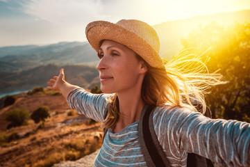 happy carefree travel adventure