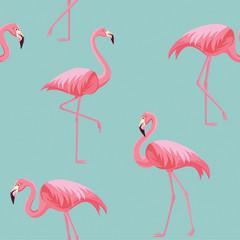 Canvas Prints Flamingo pattern. Vector seamless texture.