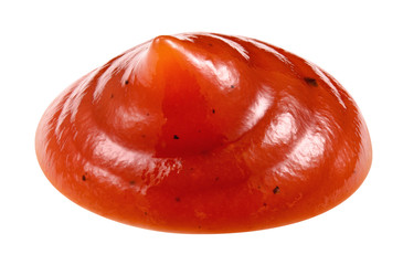 Ketchup isolated. Tomato sauce. Ketchup with clipping path.