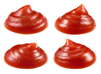 Ketchup isolated. Tomato sauce. Collection. With clipping path.