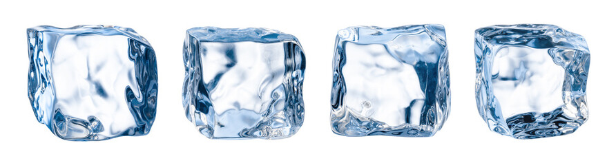 Ice cube. Ice block. Isolated ice cubes set. Clipping path Wall mural