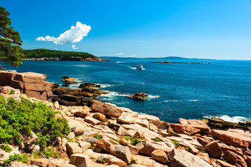 Tuinposter Kust Acadia National Park is a stunning national treasure on the coast of Maine in the USA.