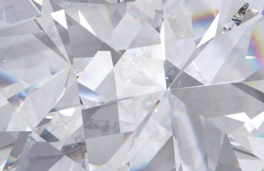 layered texture triangular diamond or crystal shapes background. 3d rendering model Wall mural