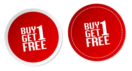 Buy 1 Get 1 Free Stickers