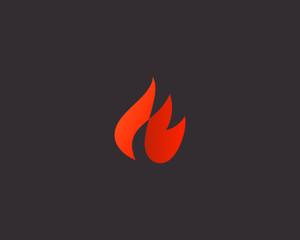 Fire logo design. Flame vector icon logotype