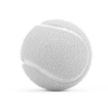 White Tennis ball isolated on white - 3d rendering