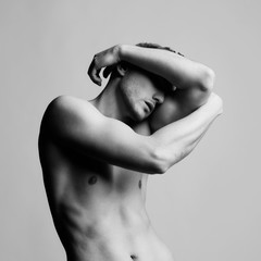 Foto auf AluDibond womenART Handsome naked male