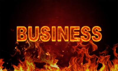 Papiers peints Affiche vintage Burning word business in flames