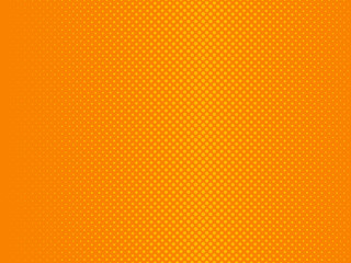 Abstract gradient orange dots background. Vector illustration in comic style