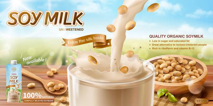 Organic soy milk ads