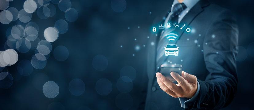 Intelligent car and smart phone app