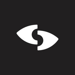 letter s unseen eye logo vector