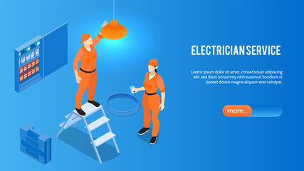 Electrician Service Horizontal Banner