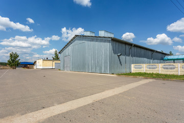 Hangar for fruits and vegetables in storage stock. production warehouse. Plant Industry