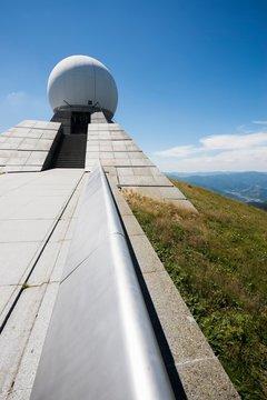 Radar station, Grand Ballon, Great Belchen, Alsace, Vosges, France, Europe