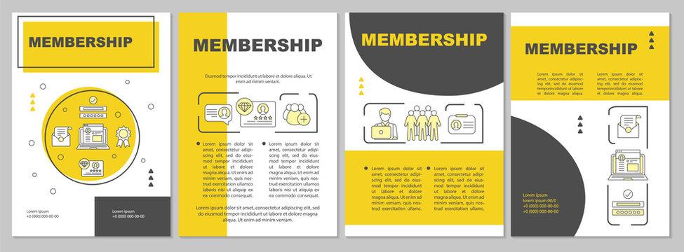 Membership vector brochure template layout