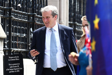 Britain's Secretary of State for Education Damian Hinds arrives at the Parliament in London
