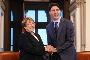 Canada's PM Trudeau meets with U.N. High Commissioner for Human Rights Bachelet in Ottawa