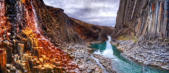 Studlagil basalt canyon, Iceland