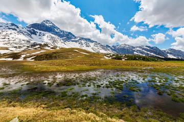 Valmalenco (IT) - Disgelo all'Alpe Campagneda con Pizzo Scalino