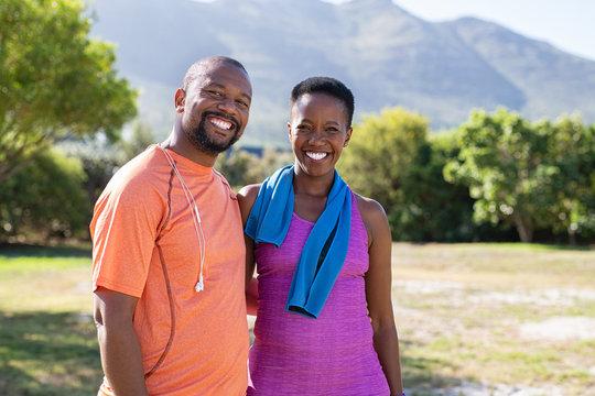 Happy mature couple portrait
