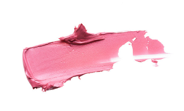 Gently pink strokes and texture of lip gloss