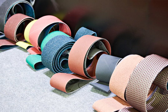 Sandpaper for grinding machines