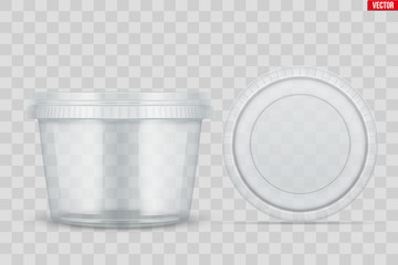 Obraz Set of Clear Plastic container for food - fototapety do salonu