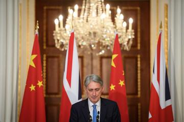 Britian's Chancellor Hammond Hosts China's Vice-Premier Hu Chunhua in London