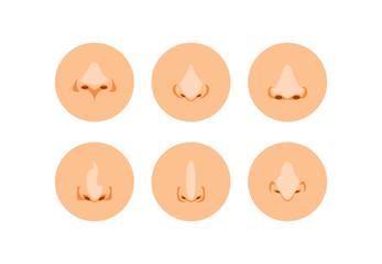 Cartoon noses vector