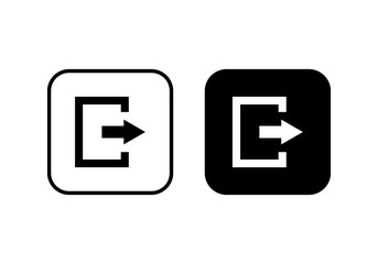 exit symbol. Close vector icon. exit icon Wall mural