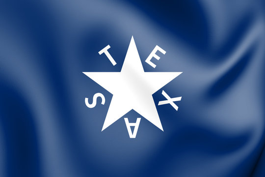 3D The Zavala Flag (Texas), USA
