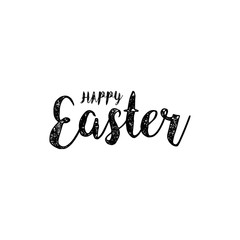 Happy Easter lettering card. Hand drawn lettering poster for Easter. Modern calligraphy